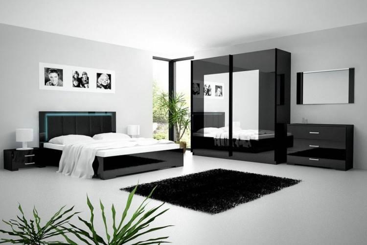 D coration moderne de chambre a coucher for Chambres a coucher moderne Angelina laque blanc