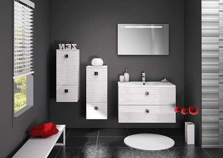 Salle de bain noir blanc et choco photo 3 5 3514082 for Salle de bain noir