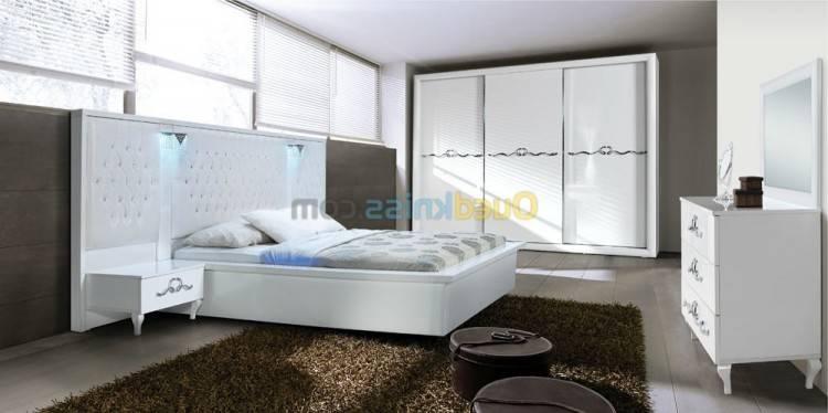 CHAMBRE COMPLÈTE Ensemble design pour chambre à coucher LINA blanc