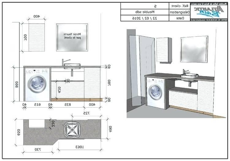 Conception Meuble Salle De Bain Machine A Laver Avec Lave Linge Sdb  Pinterest Tiny Backs