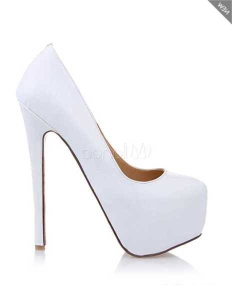 Dernières chaussures NEW LOOK Sandales à talons blanches à brides de cheville BLANC Chaussures Femme,Acheter