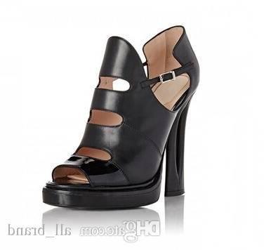 Femme Dames s/Bout Ouvert/Spartiates Femme/Bout Fermé/Chaussures à Talon
