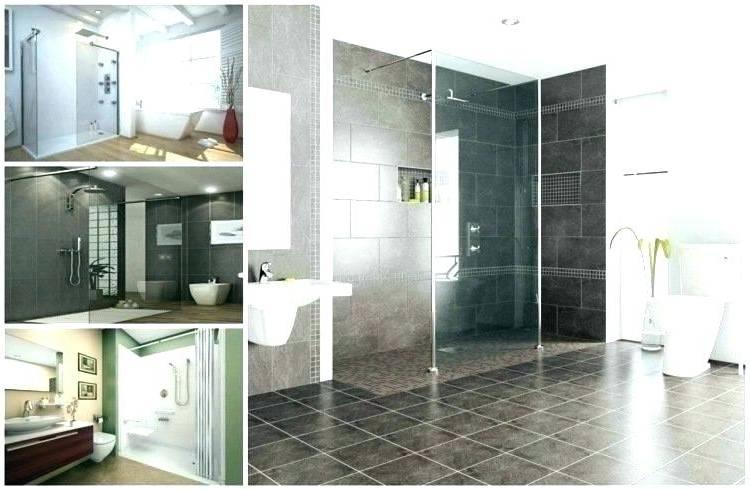 Petite salle de bain moderne dans des tons gris et blancs, plateau avec vasque en marbre, miroir rectangulaire entouré d'une guirlande de pétales blanches