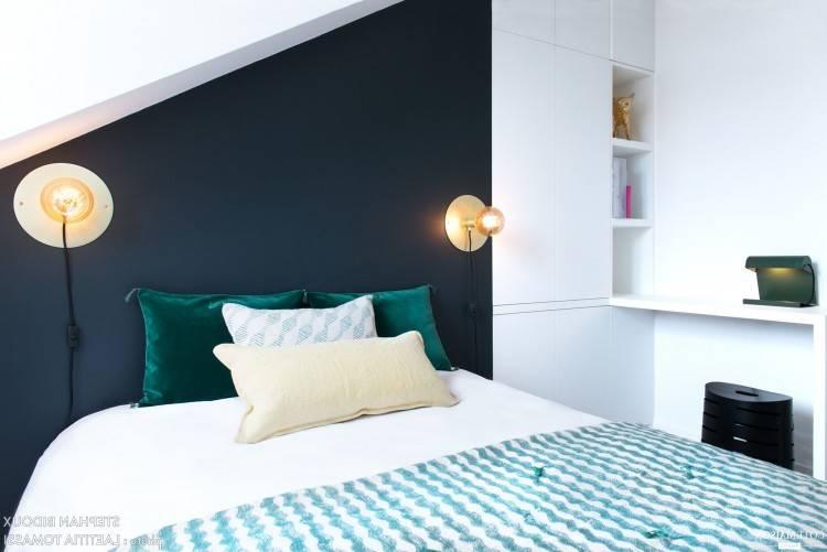 de chambre à coucher Paris grand lit, 4 mcx, blanc