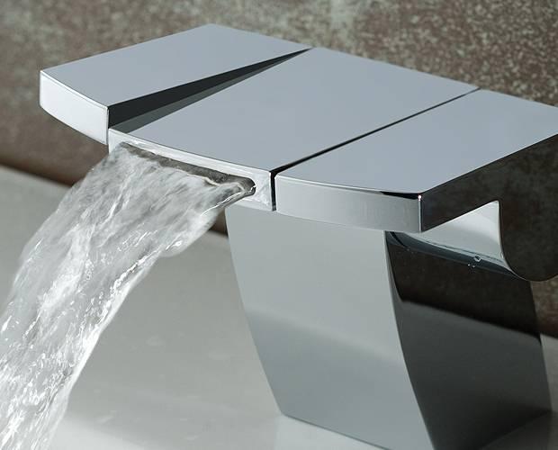 cascade robinet Salle de bains moderne Square MG mitigeur lavabo bain mono MG Square 1416bf