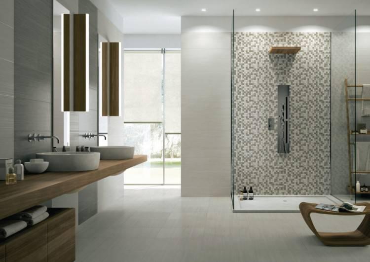 salle de bain coloree faience idee deco couleur taupe