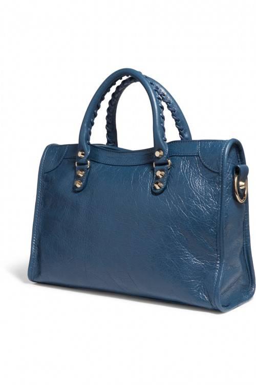 sac a main femme cuir bleu