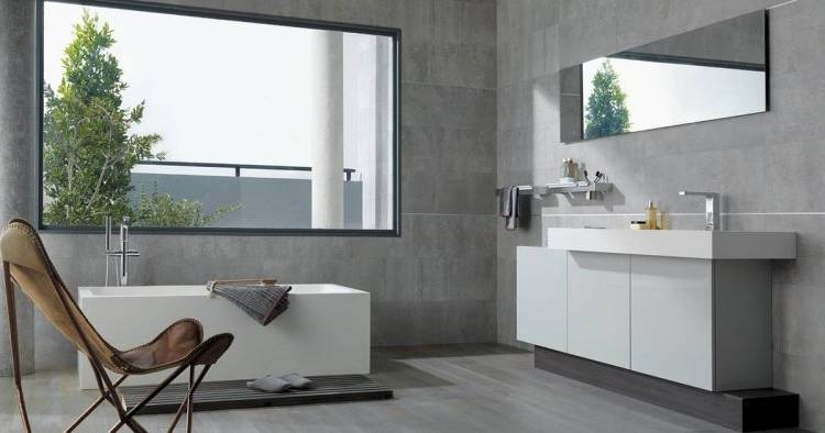 faience salle de bain contemporaine idaces daccoration intacrieure moderne gris