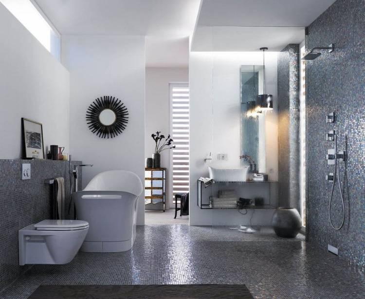 Salle De Bain Moderne Grise Salle De Bain Gris Et Blanc En 27 Mod Les De