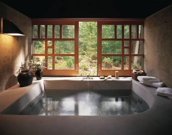 Int Rieur De Salle De Bains Moderne Avec Parquet Au Sol Et Jacuzzi Avec 28885041 Int