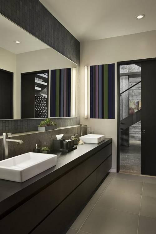 Meubles néoclassique de luxe dans un style moderne dans la salle de bain
