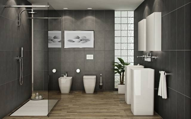 Full size of emejing salle bain rouge gris et blanc contemporary  amazing photoseco carrelage anthracite noire