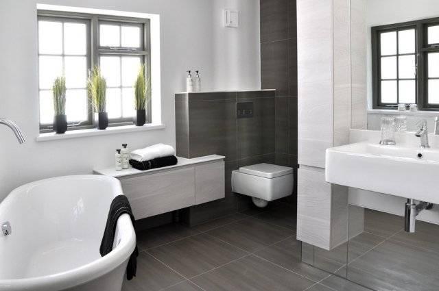 la salle de bain contemporaine moderne blanche photo ambiance blanc gris