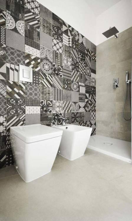 Mediun size of faience salle bain moderne carrelage de noir et blanc rouge tunisie
