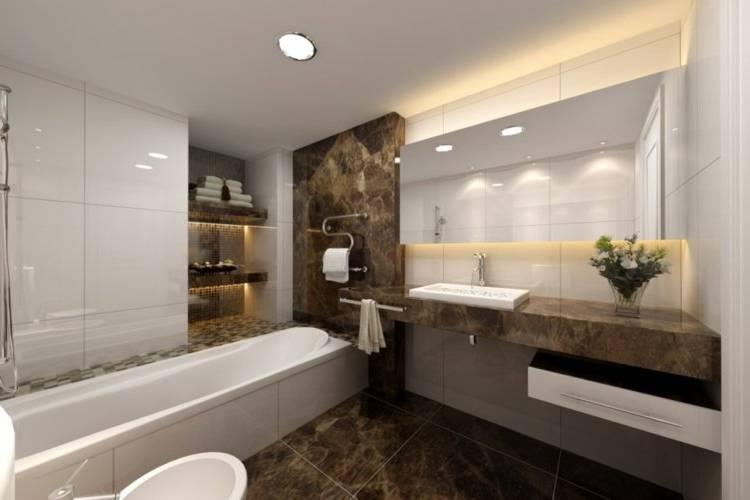 Full size of sallen avec mur en pierre naturelle design deco rustique photos salle de bain