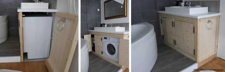 comment masquer esthactiquement le lave linge dans la salle de bain  meublepour machine a laver sdb