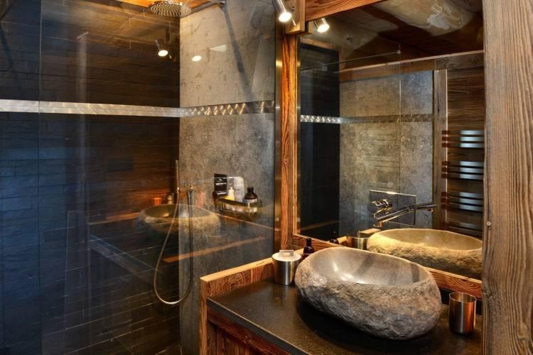 Les beaux exemples de salle de bain rustique – 40 photos inspirantes