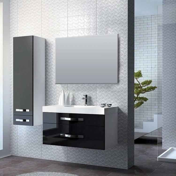 salle de bain en bois brut
