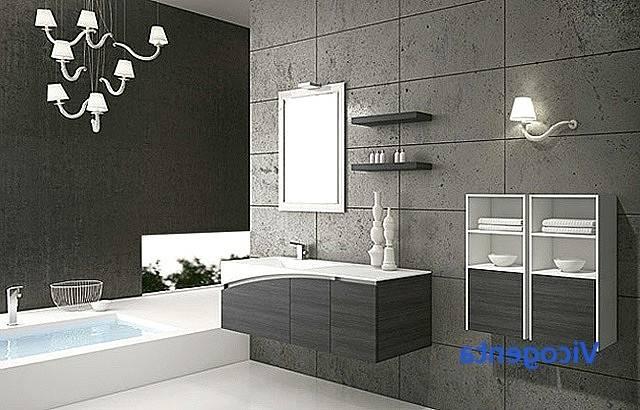 salle de bain gris blanc