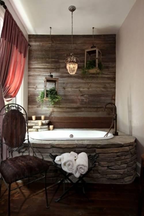 Voici les plus belles salles de bain en 55 photos for Salle de bain en  pierre