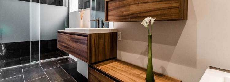 Meuble bas de salle de bain blanc et gris commode de rangement Meu
