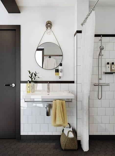 salle de bain moderne avec miroir