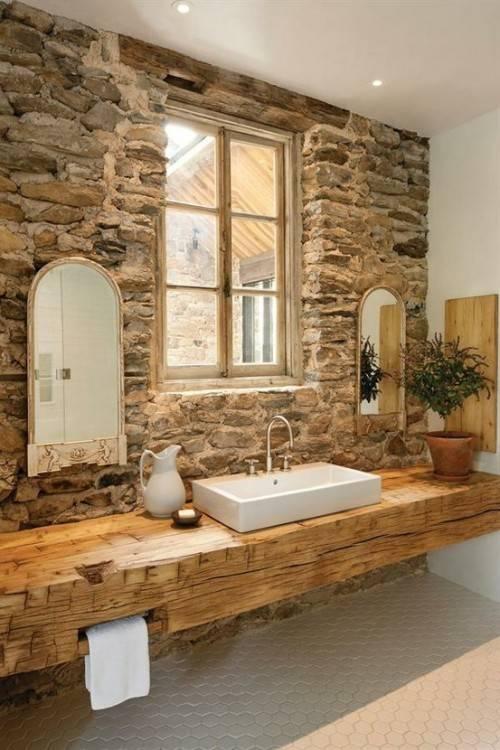 salle de bain en pierre naturelle plaquette de parement en pierre La salle  de bain en pierre naturelle en 55 idées modernes