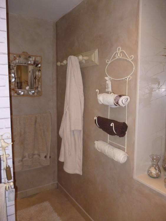Full size of salle bain marron et beige carrelage mural bains meuble vasque bois 201302171514379o de