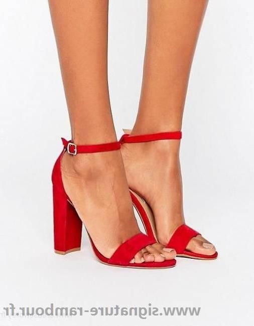 QinMM Sandales Lacet Pointure Large à Talons Carrés Femmes Mesdames Bloc, Suede Bandage Chaussures à Talons Hauts Boucle Cheville Sexy High Heels: