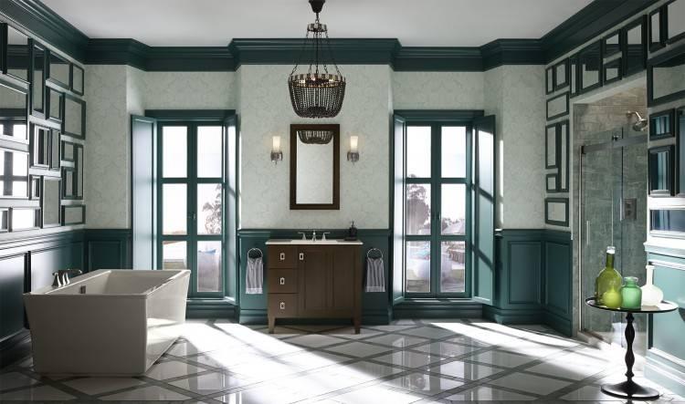 Rideau de salle de bains imperméable épais moderne classique de rideau en  douche de PEVA avec