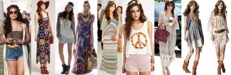 Robe hippie chic courte mode femme