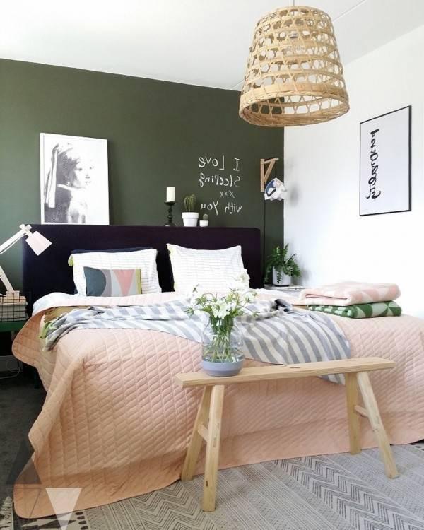 56 idées comment décorer son appartement! Voyez les propositions des spécialistes! Chambre Vert KakiTurquoise