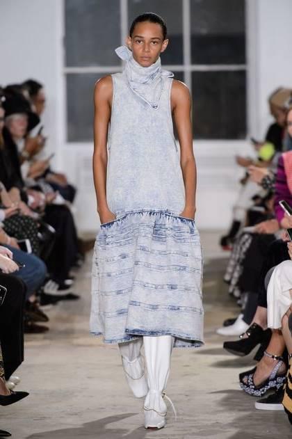 2019 Single Nouvelle Navy Blue Femme Mode Manches Longues Manteau Chemise Jean En Blue Broderie À