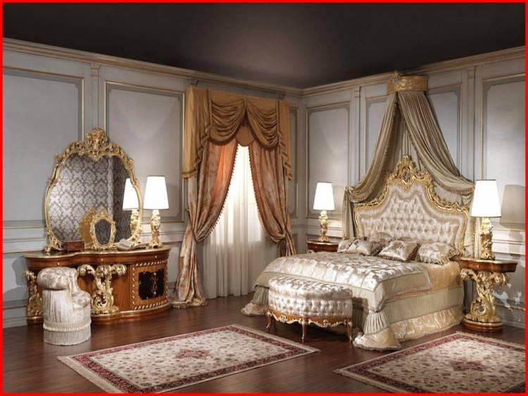 Chambre A Coucher Avec Papier Peint Galerie Avec Chambre Coucher Avec Lit  Capitonné A Meubles Royaux Dans La Chambre Coucher Baroque Photo Papier  Peint
