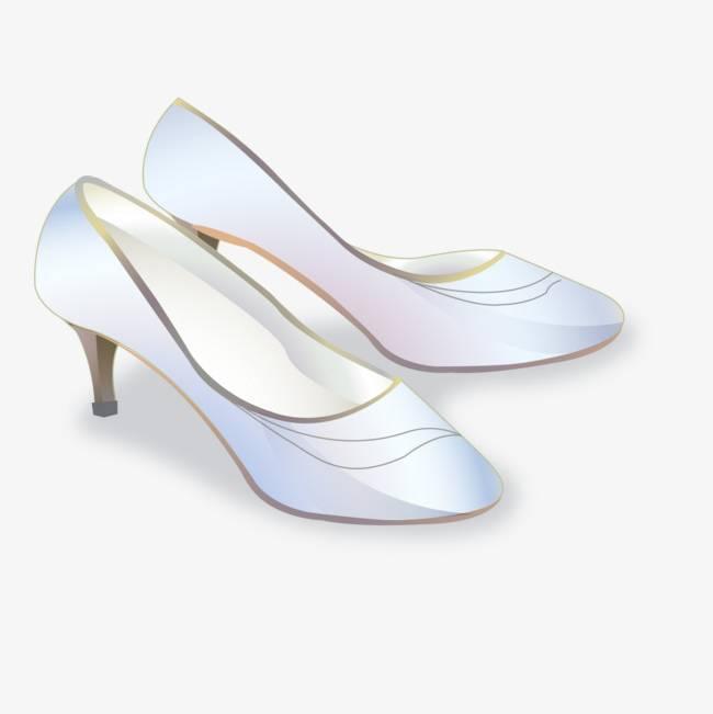 Blanc de chaussures à talons hauts