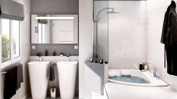 Emejing Salle De Bain 4m2 Avec Baignoire Ideas Amazing House Avec Salle Bain  Marocaine Photo Moderne Avec Baignoire De 4m2 Prix Wc Ikea Sous Comble Plan