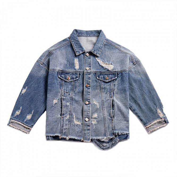 Sexy Vestes Épaule Haute Printemps Tops Manteau Casual 2019 Off De Manteaux Denim Mode Courroie Femme