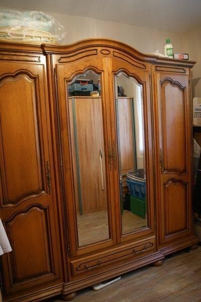 Chambres À Coucher En Noyer Merisier Chene Toujours En Bois Massif de Meuble Chambre A Coucher